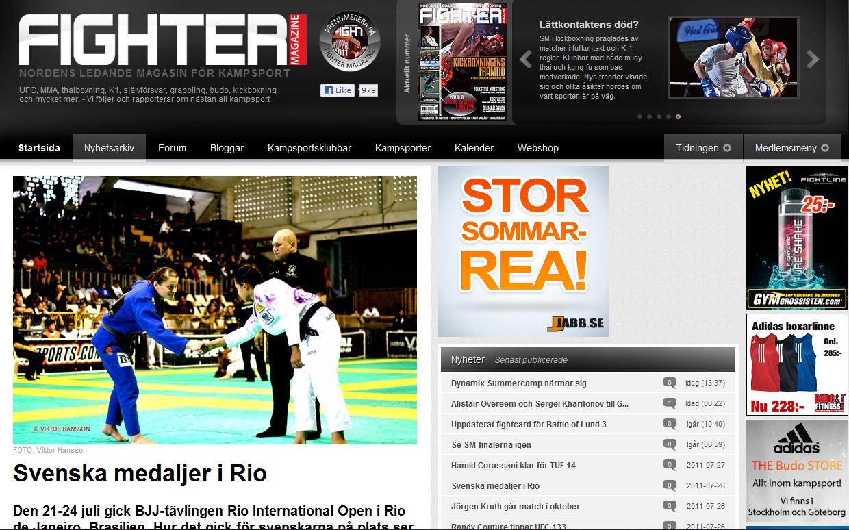 Ida i FighterMag efter Rio Open