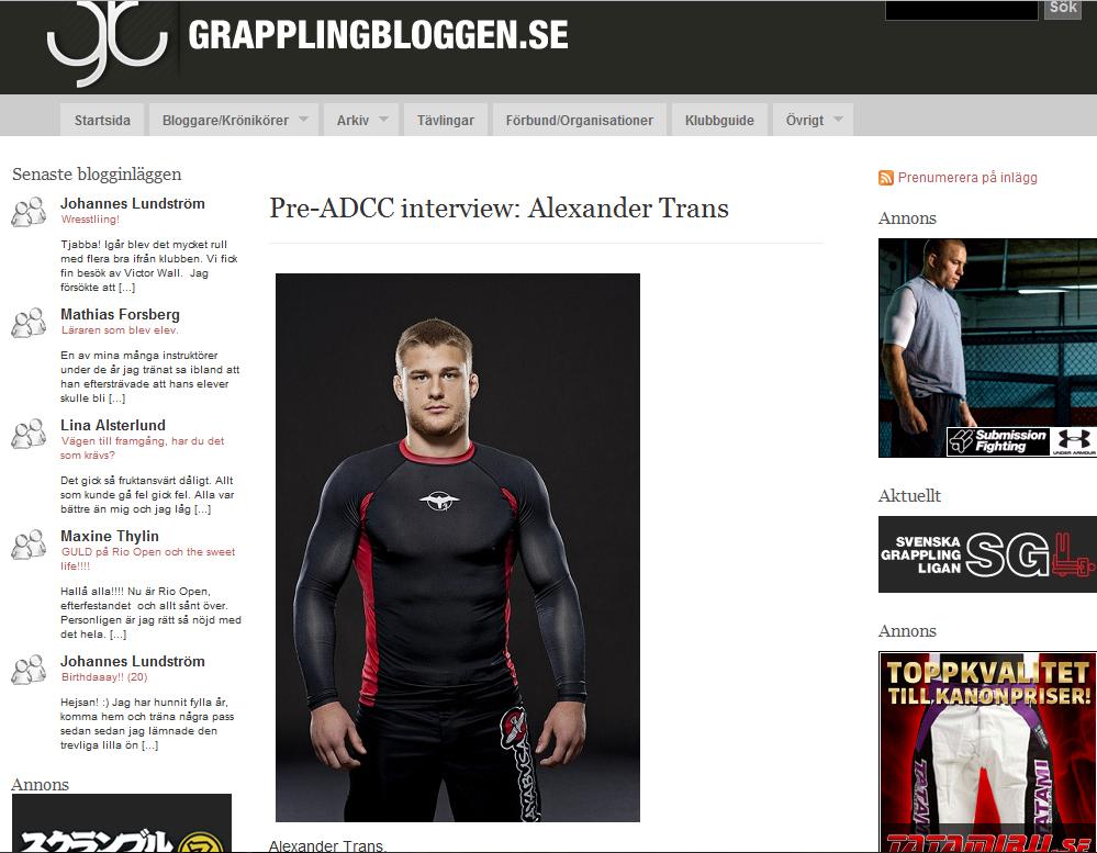 Alexander på Grapplingbloggen.se