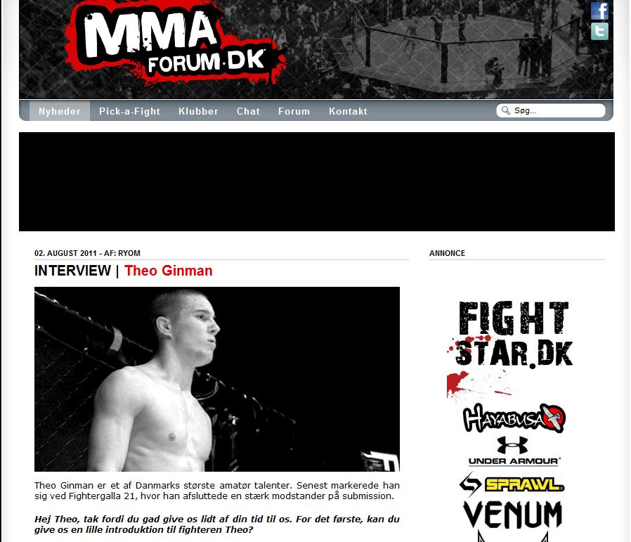 Theo på MMA forum