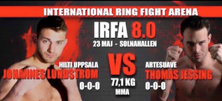 Thomas Jessing der efter 10 amatørkampe skal have sin første professionelle kamp mod den svenske bjj brunbælte Johannes Lundström.