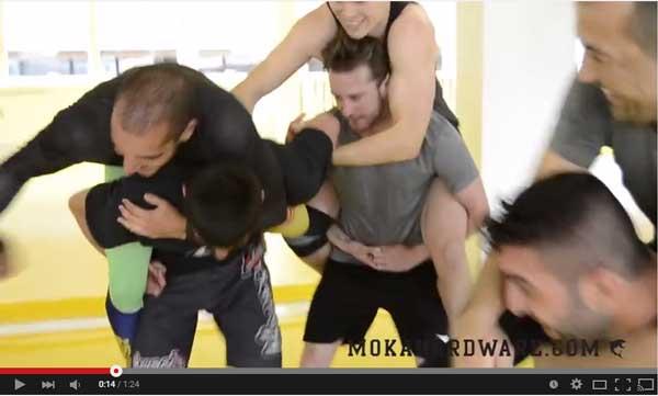 En video fra vores Submission Wrestling hold