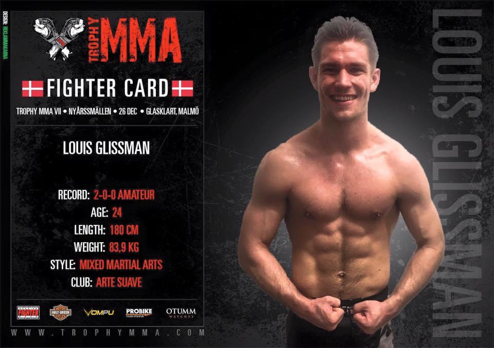 Louis Glismann er også klar til Trophy MMA d.26 december i Malmø.