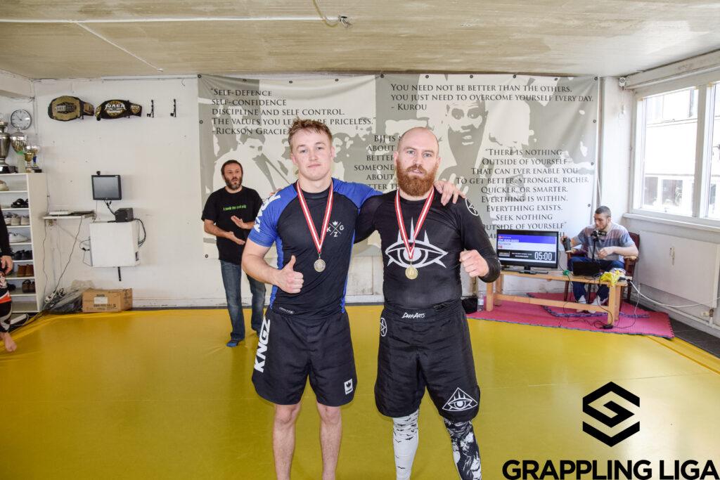 Andreas og Lasse, fik sølv og guld til Dansk Grappling Liga i lørdags